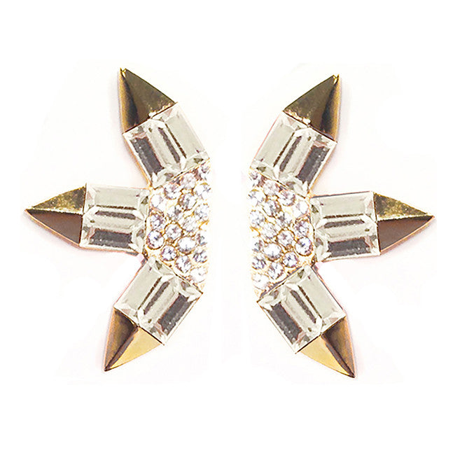 CAROLYN COLBY - GOLD SUNLIGHT BURST EARRINGS