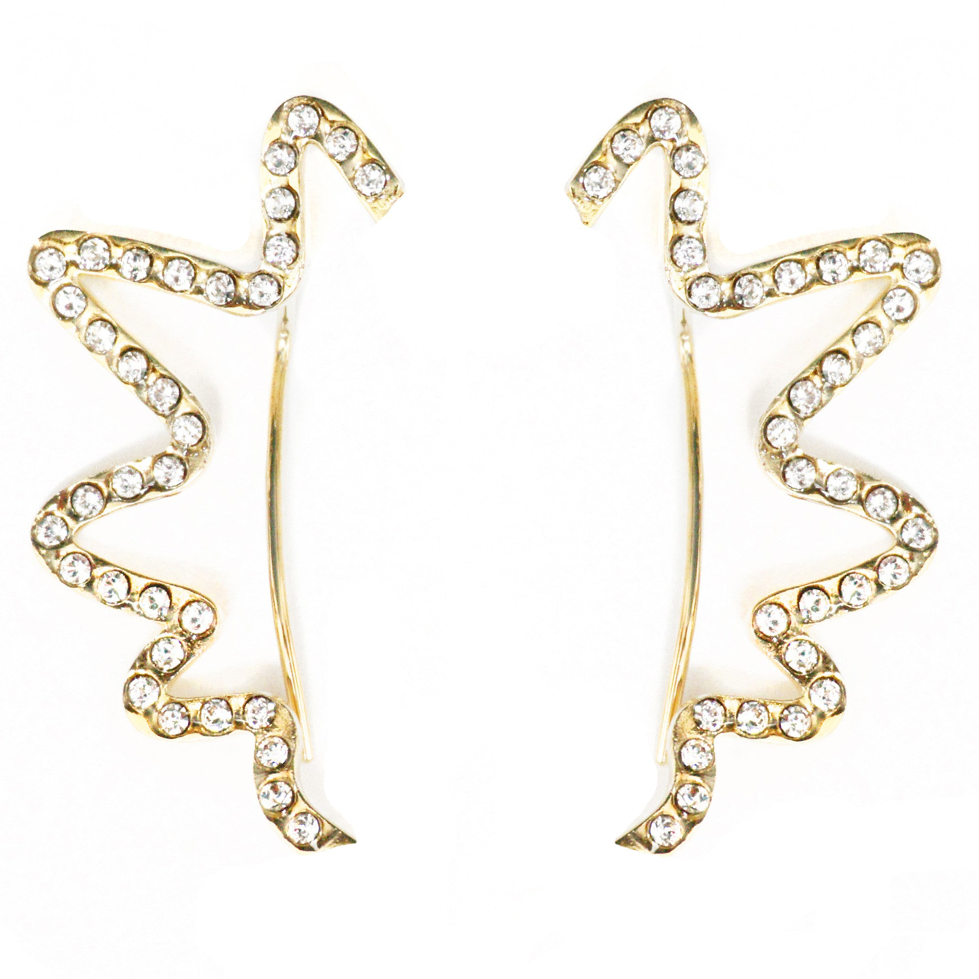CAROLYN COLBY - CRYSTAL ZIG-ZAG EARRINGS