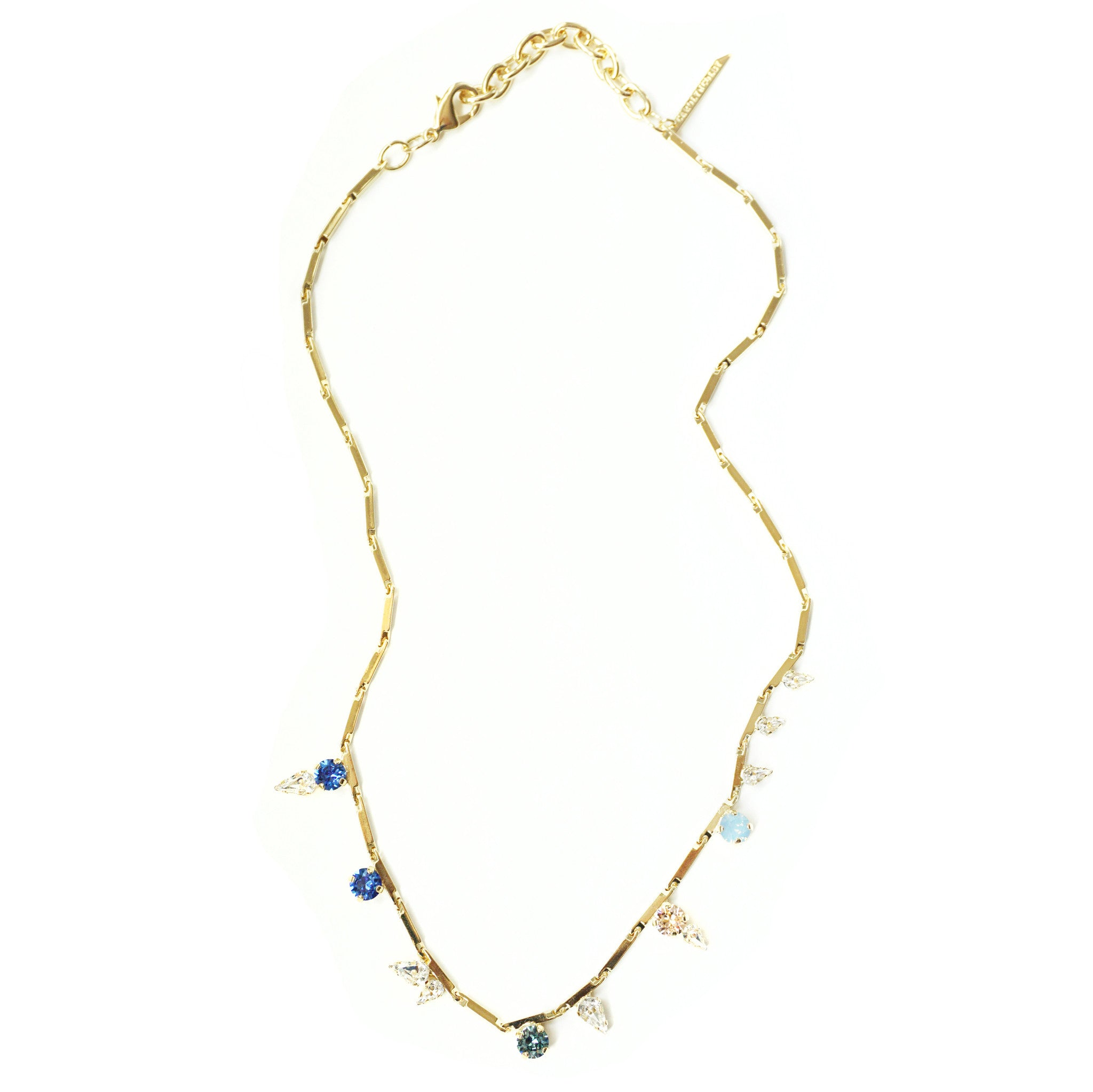 CAROLYN COLBY - GOLD GEM NECKLACE