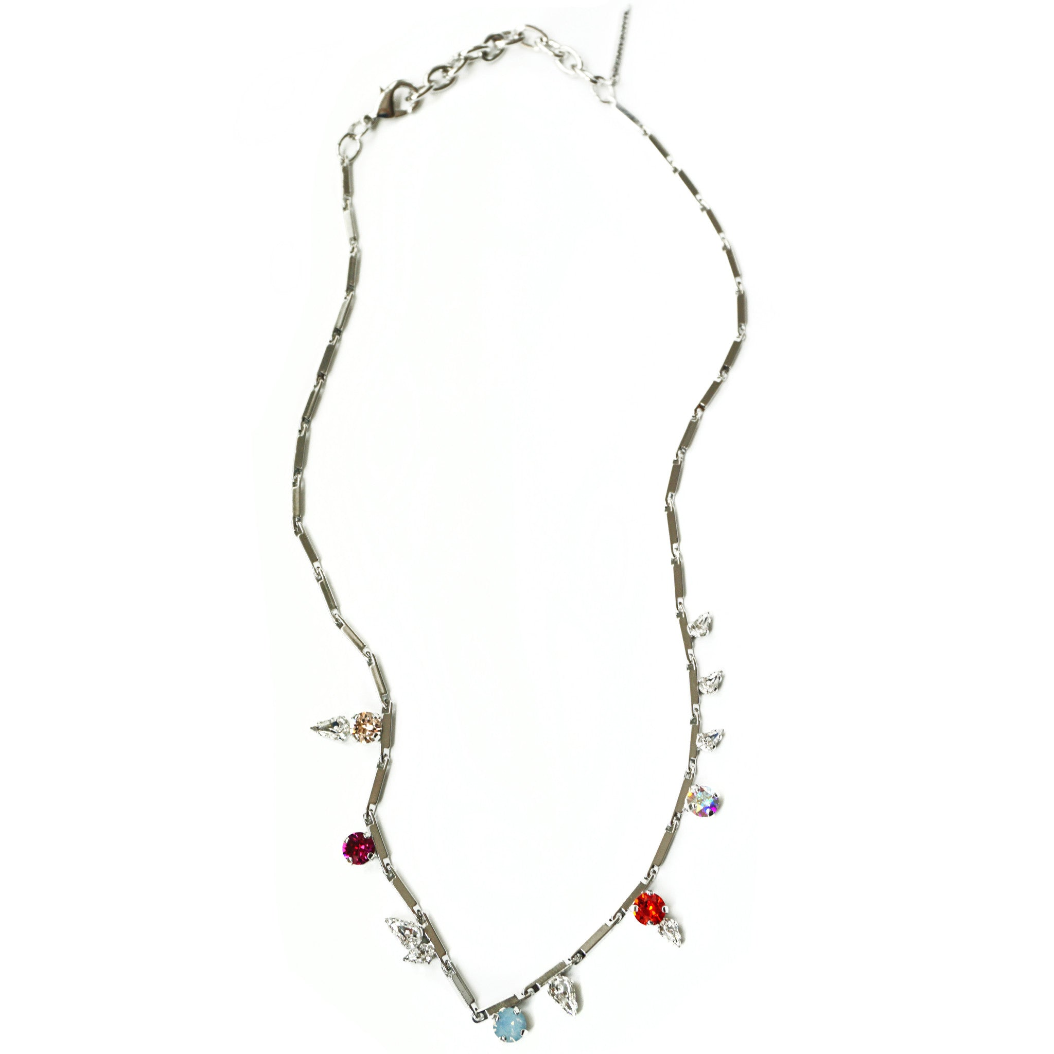 CAROLYN COLBY - SILVER GEM NECKLACE