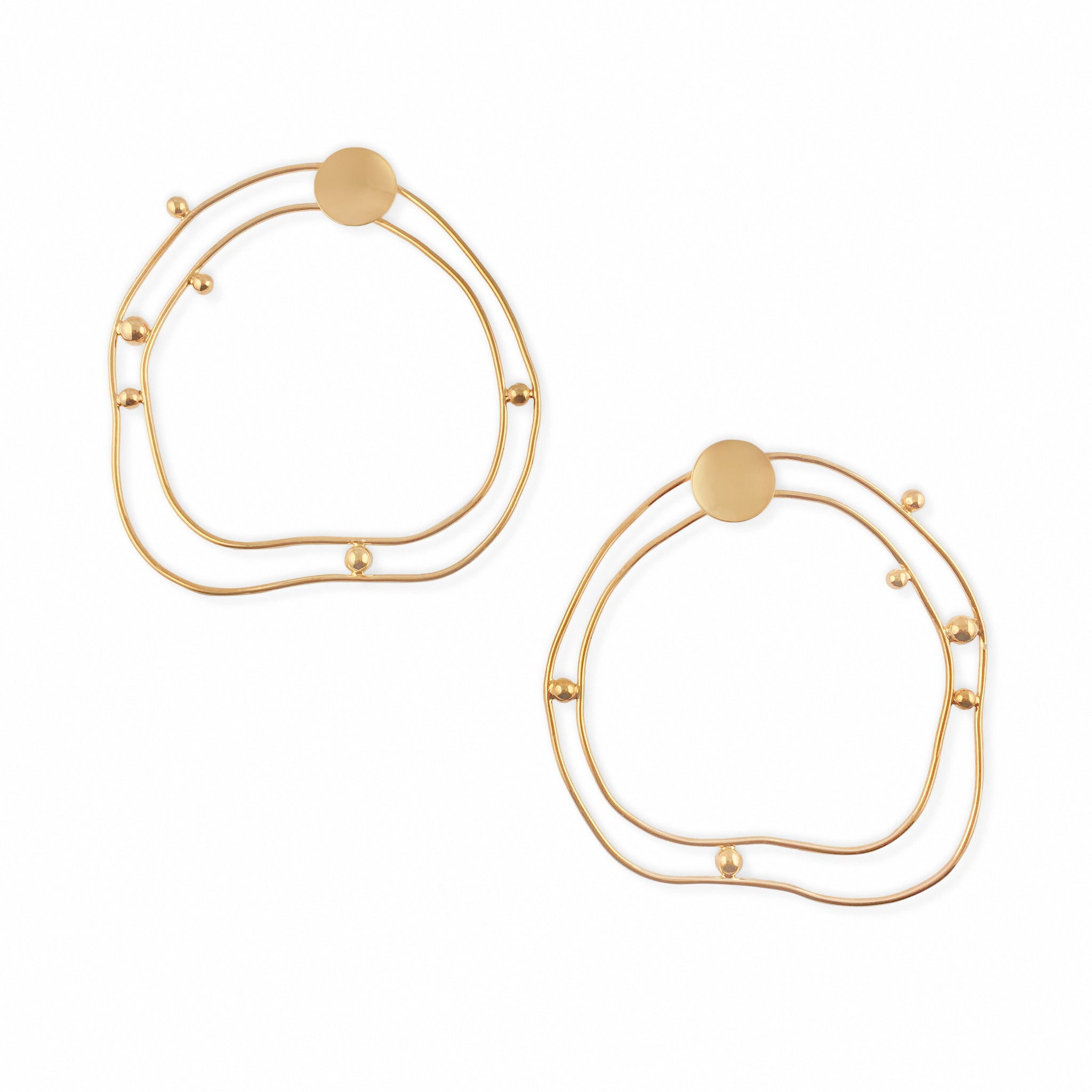MISHO DESIGNS - LARGE GOLD CIRCLE EARRINGS