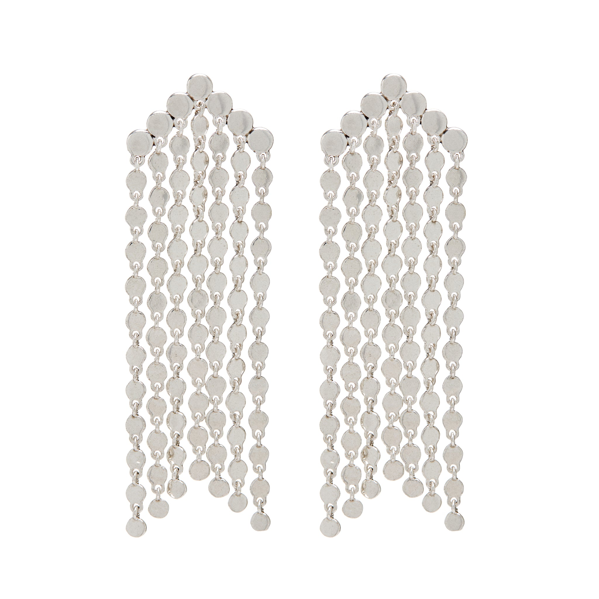 LUV AJ -  CASCADING DISC EARRINGS