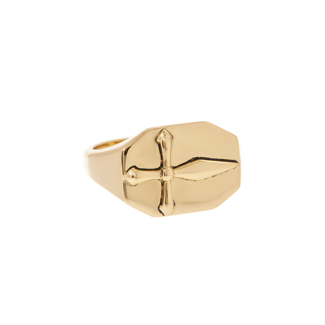 Luv AJ - CROSS SIGNET RING