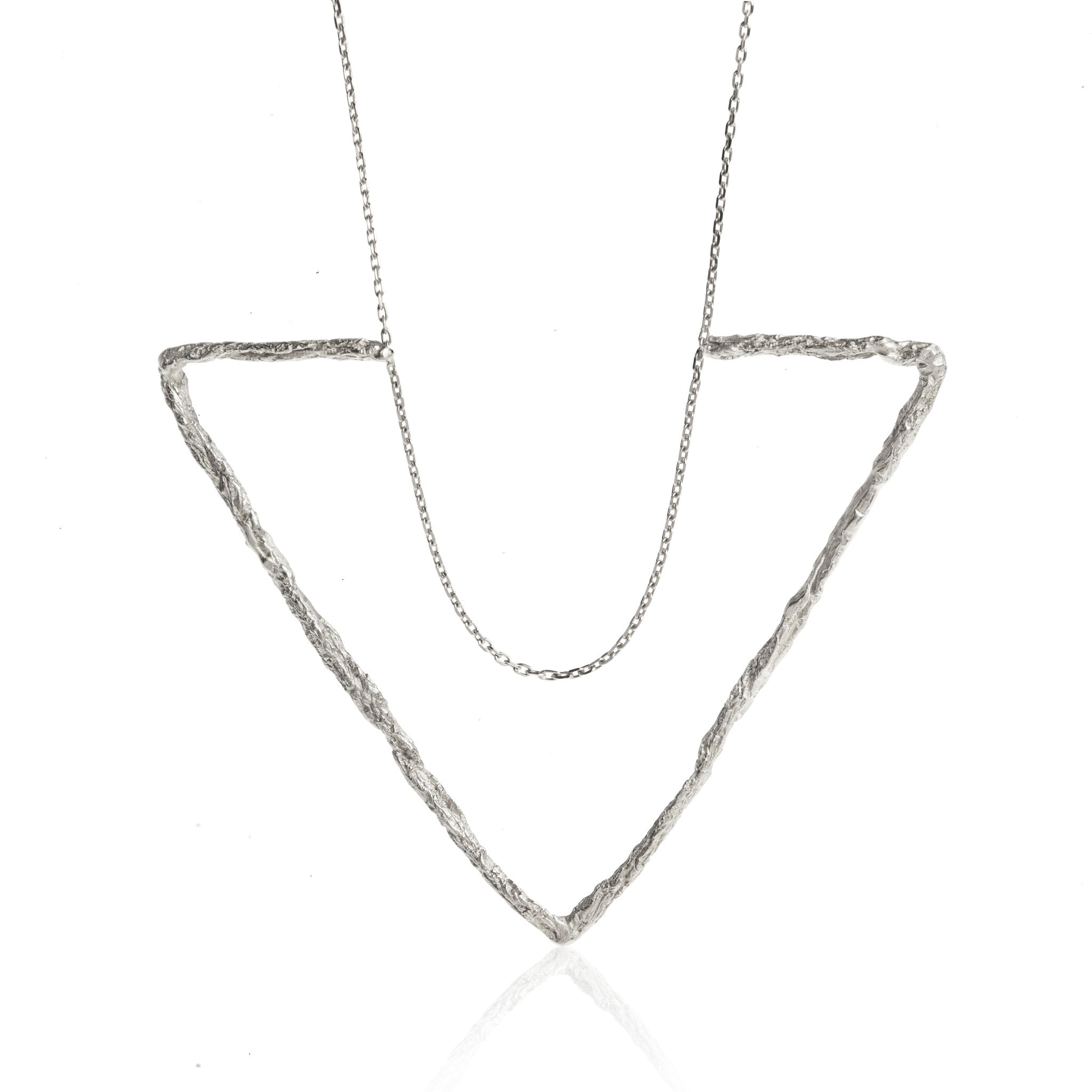 Niza Huang - Silver Large Delta Triangle Necklace