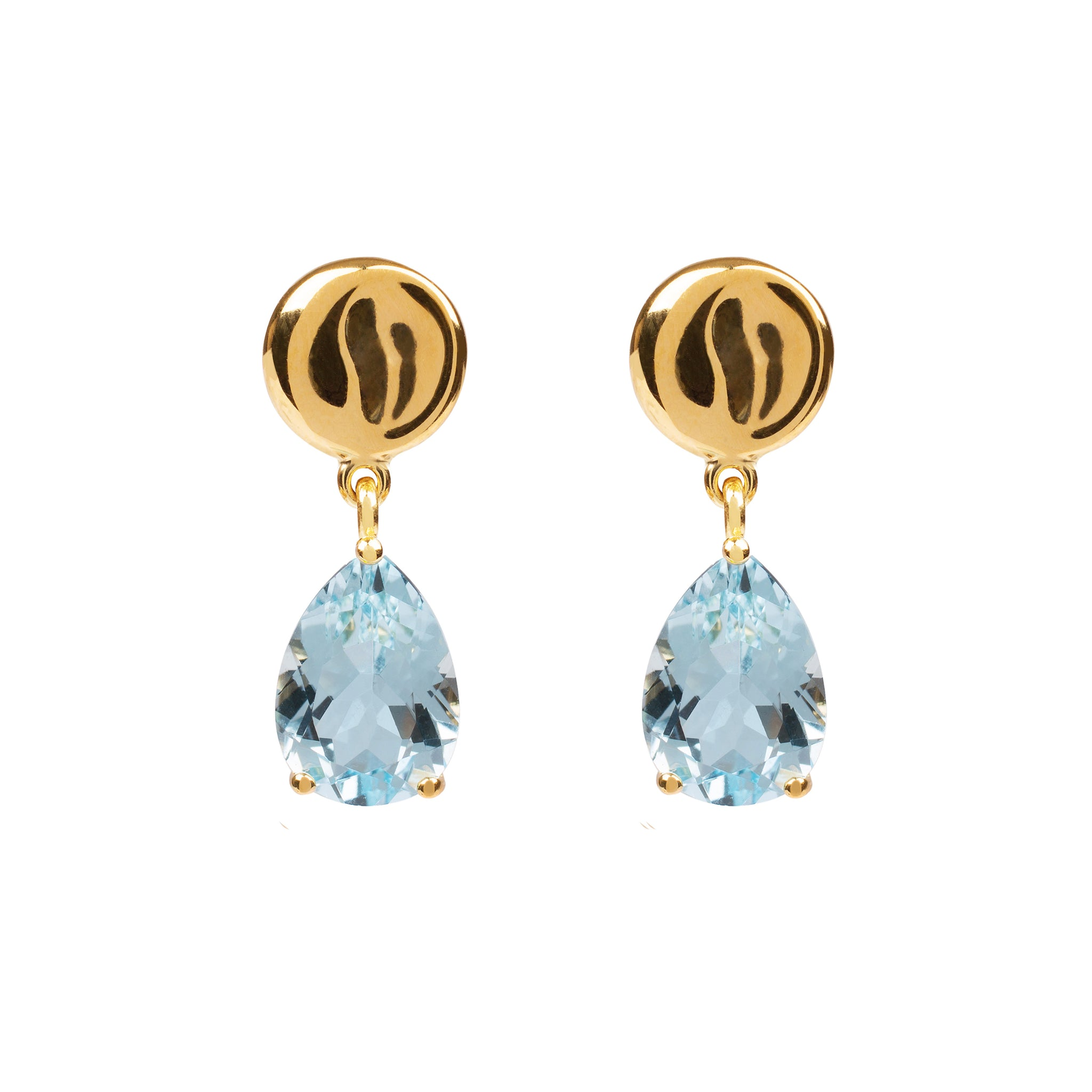 DAVINA COMBE - DROP EARRINGS WITH BLUE TOPAZ