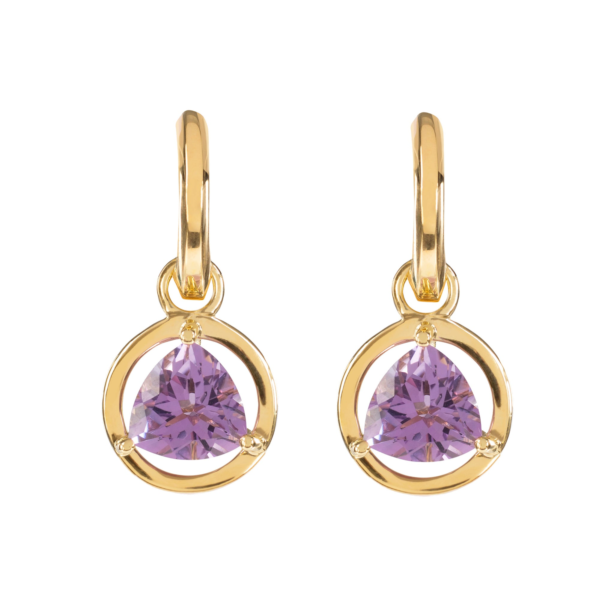 DAVINA COMBE - PALERMO DROP EARRINGS WITH AMETHYST