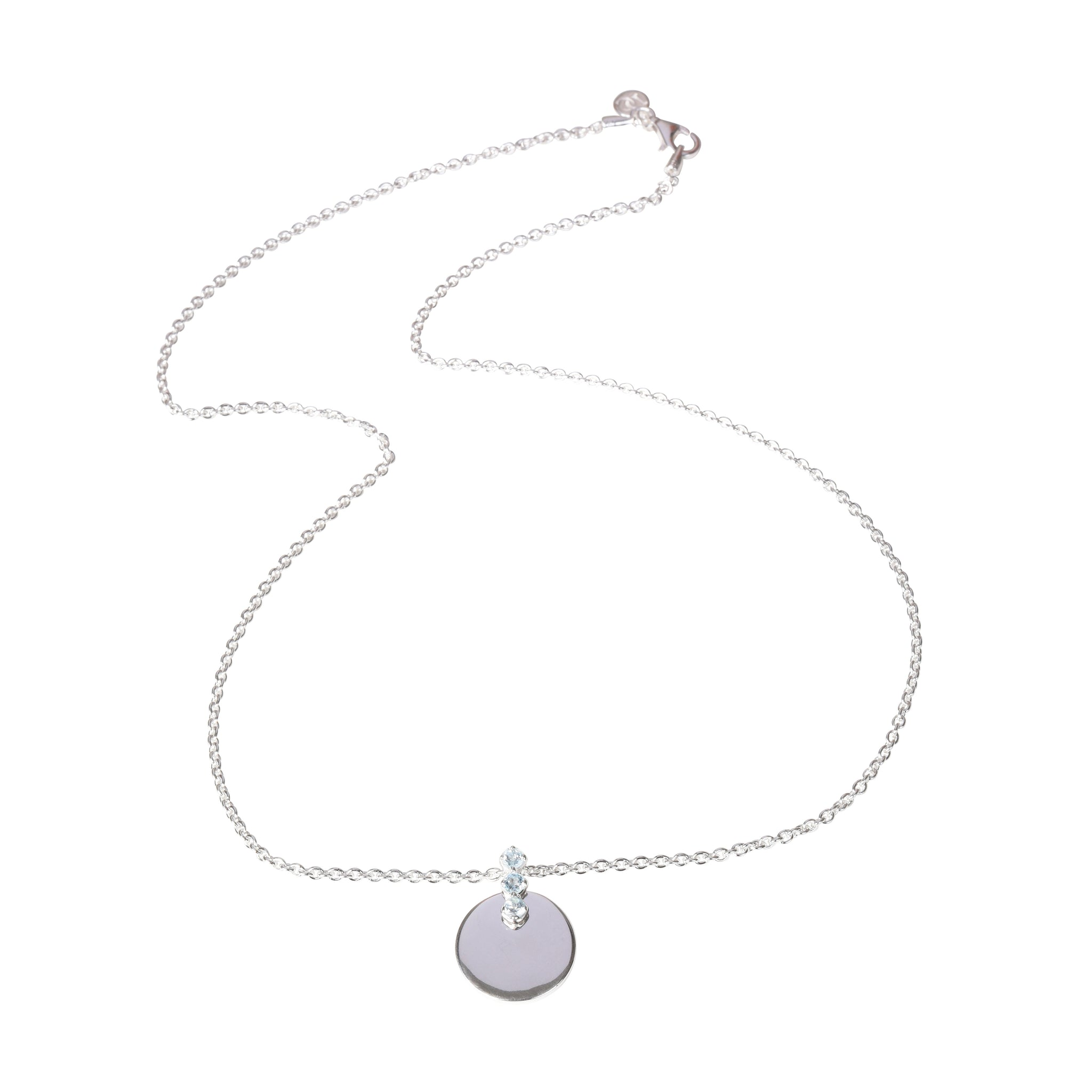 DAVINA COMBE - BLUE TOPAZ SIENNA DISC NECKLACE