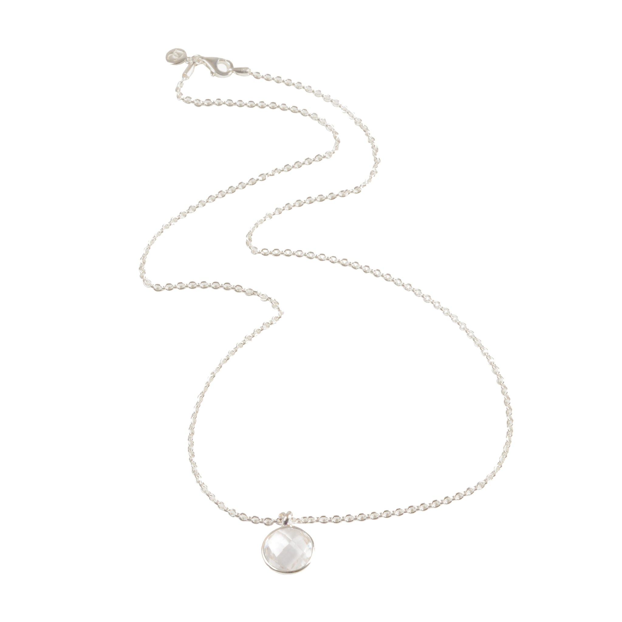 DAVINA COMBE - KNOT DROP NECKLACE WITH ROCK CRYSTAL
