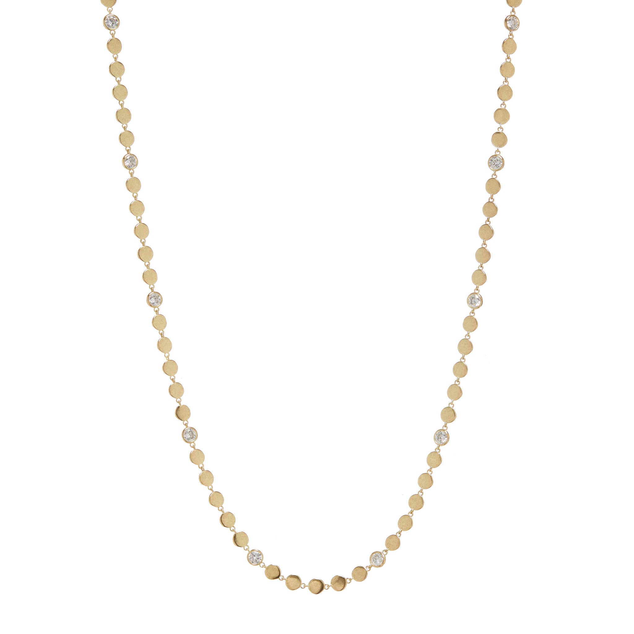 LUV AJ -  DIAMOND DISC WRAP NECKLACE