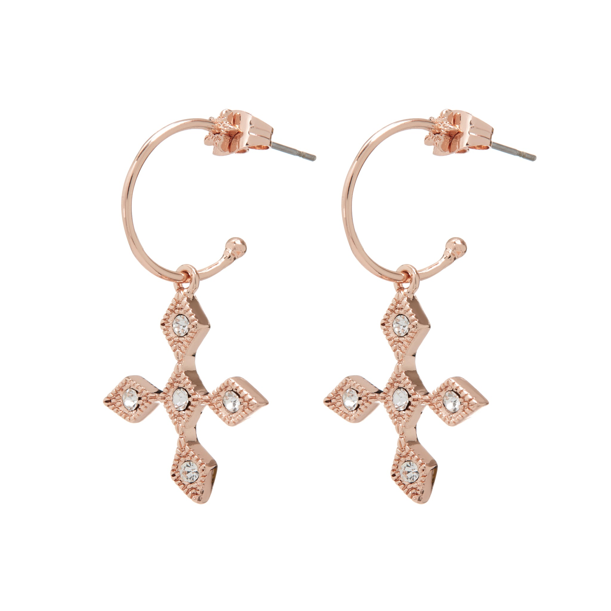 LUV AJ -  DIAMOND KITE CROSS HOOPS