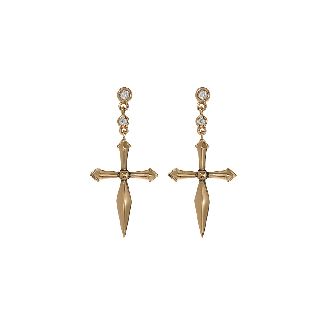 Luv AJ -  DIAMONTE CROSS STUDS
