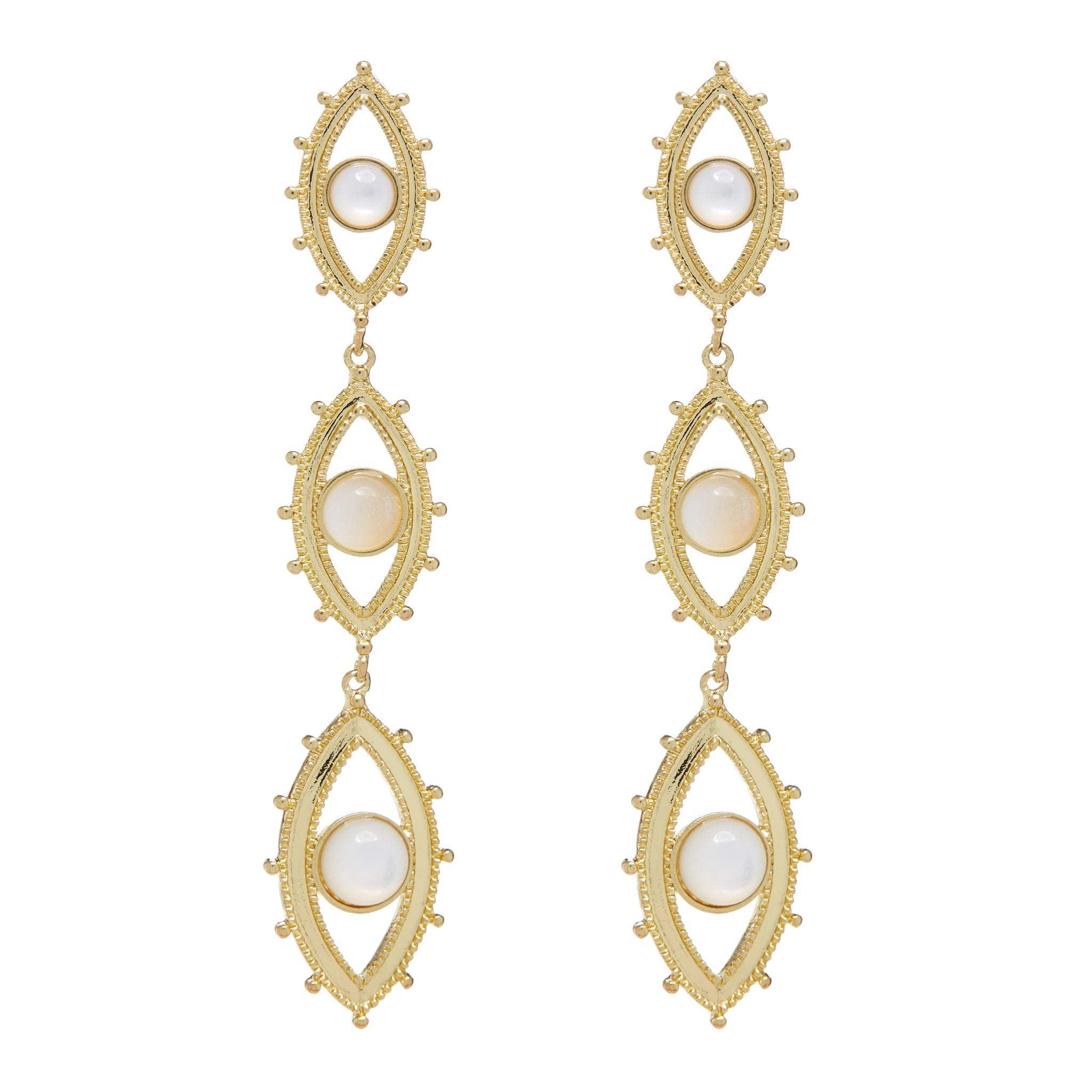 LUV AJ - EVIL EYE DROP EARRINGS