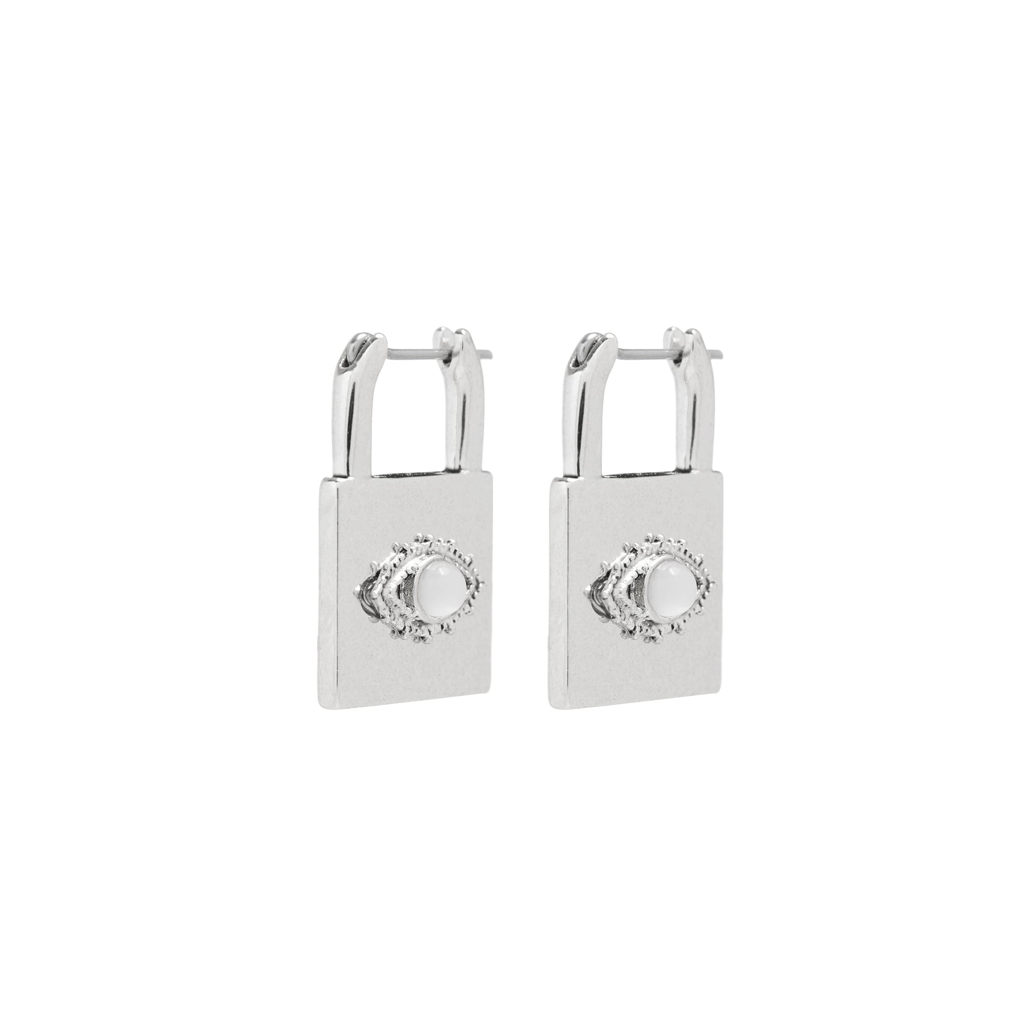 LUV AJ - EVIL EYE PADLOCK EARRINGS