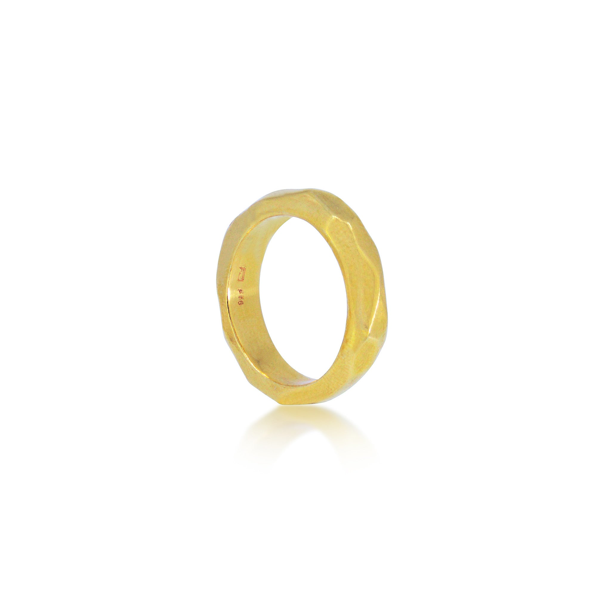 MAYA MAGAL - GOLD FACETED THICK STACKING RING