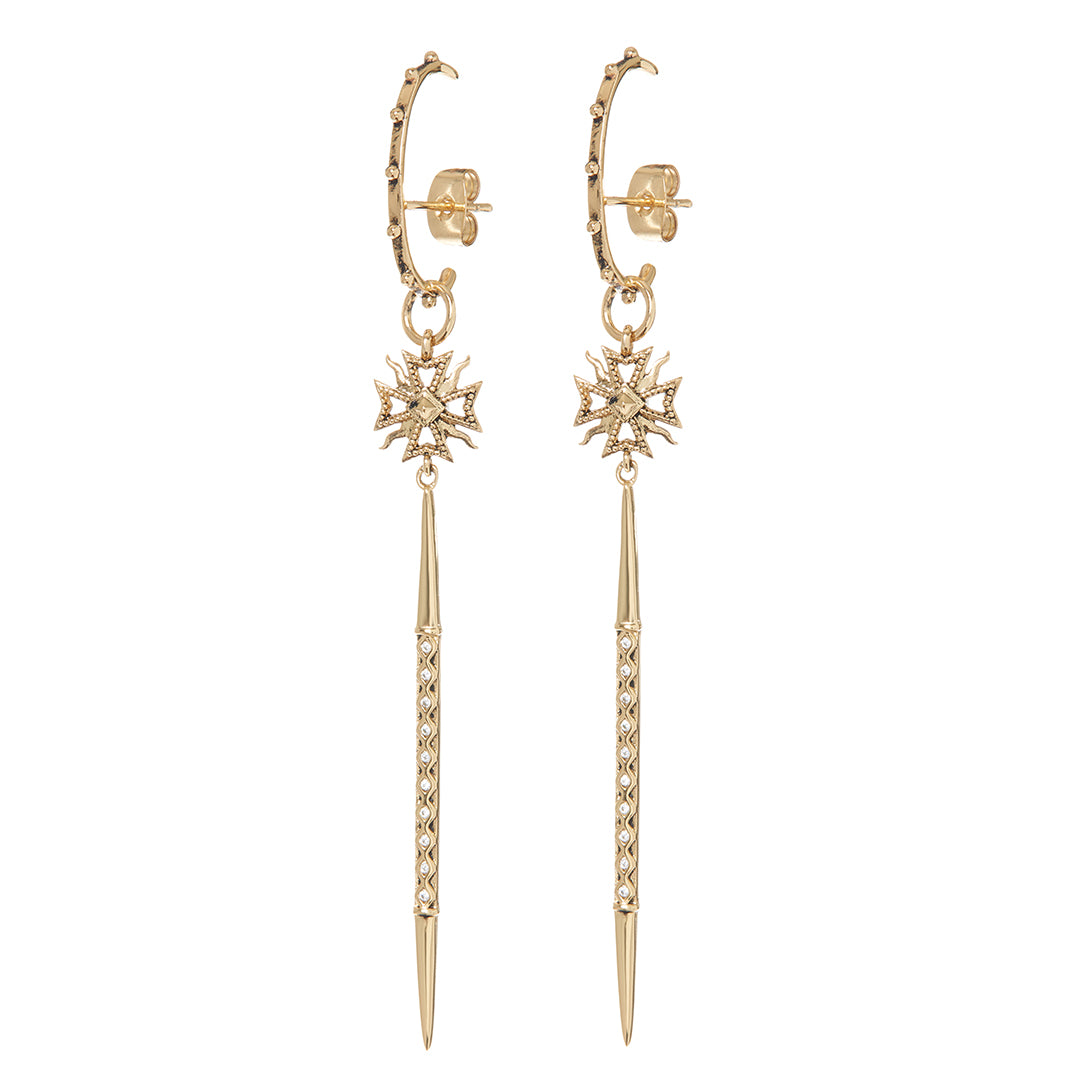 Luv AJ - FLEUR SPIKE DROP EARRINGS