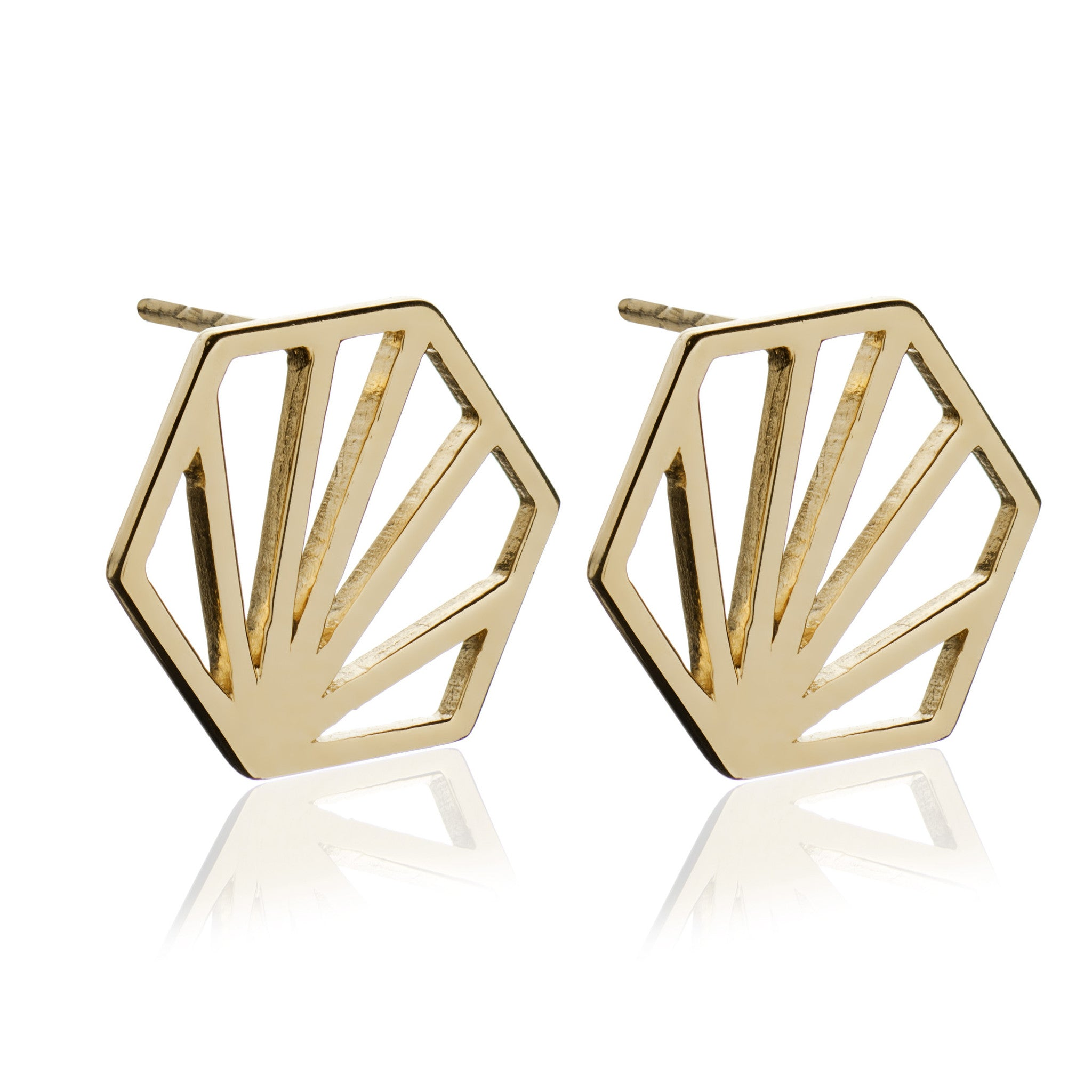 Rachel Jackson - Gold Serenity Earrings