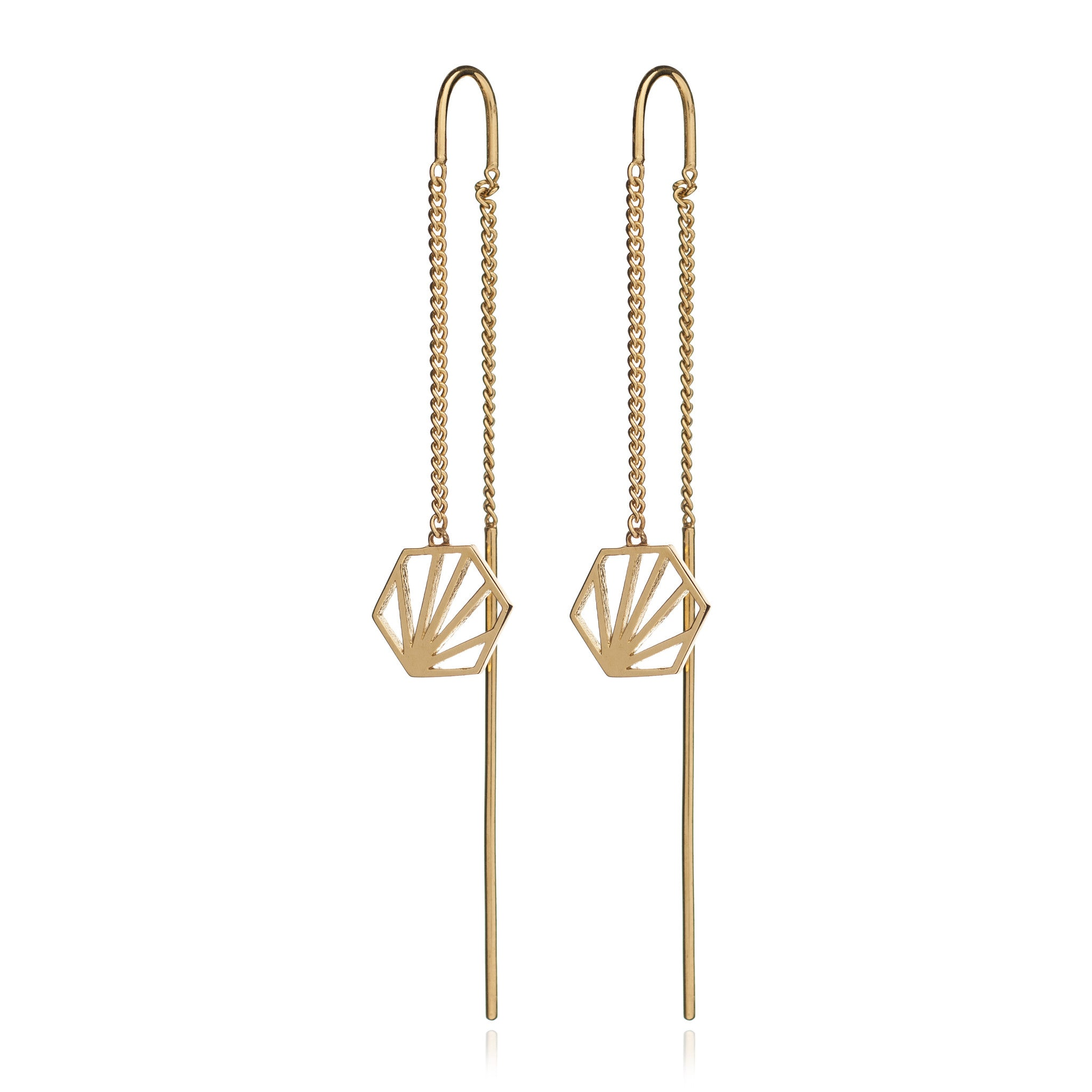 Rachel Jackson - Long Gold Serenity Earrings
