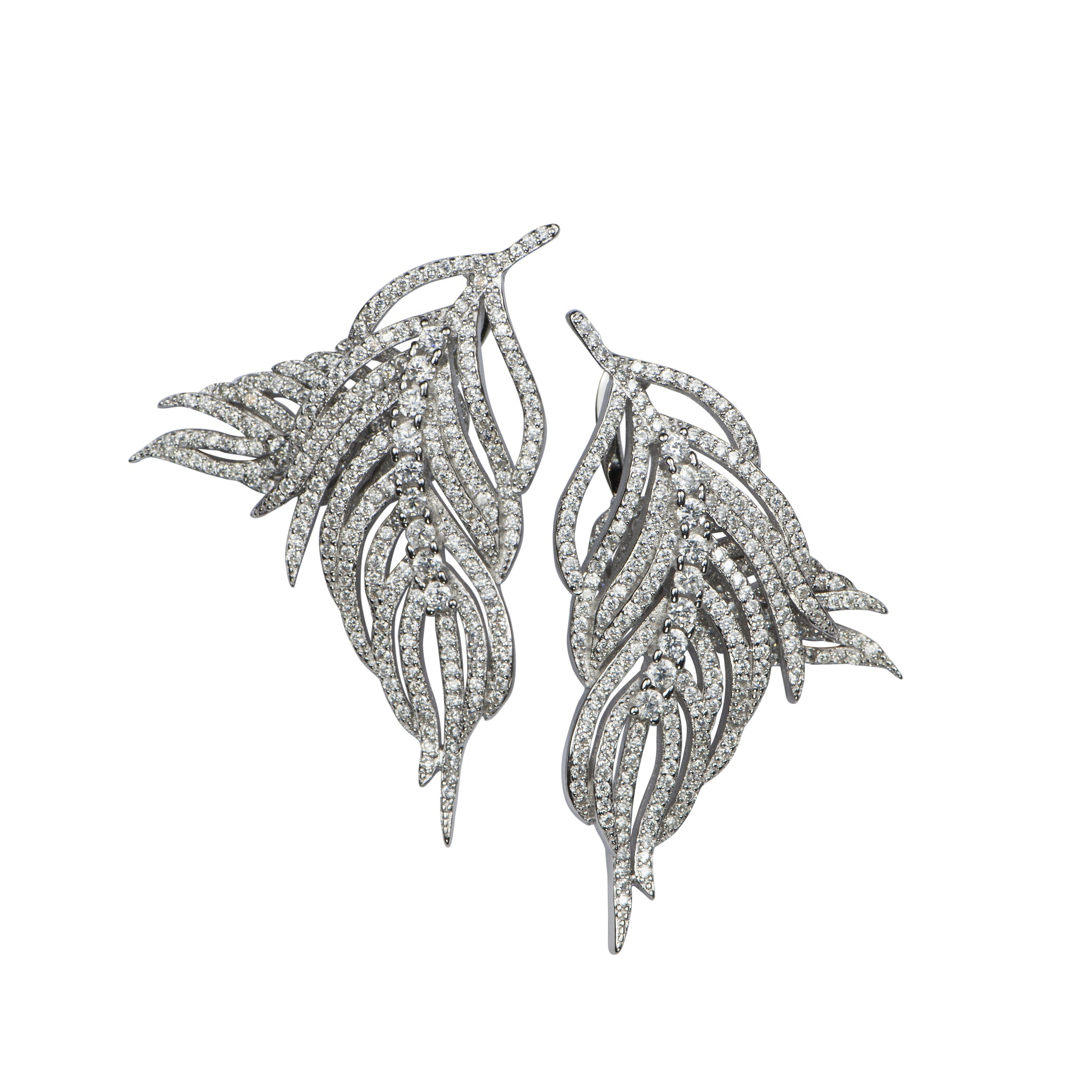 APPLES & FIGS - HERMES FEATHER EARRINGS
