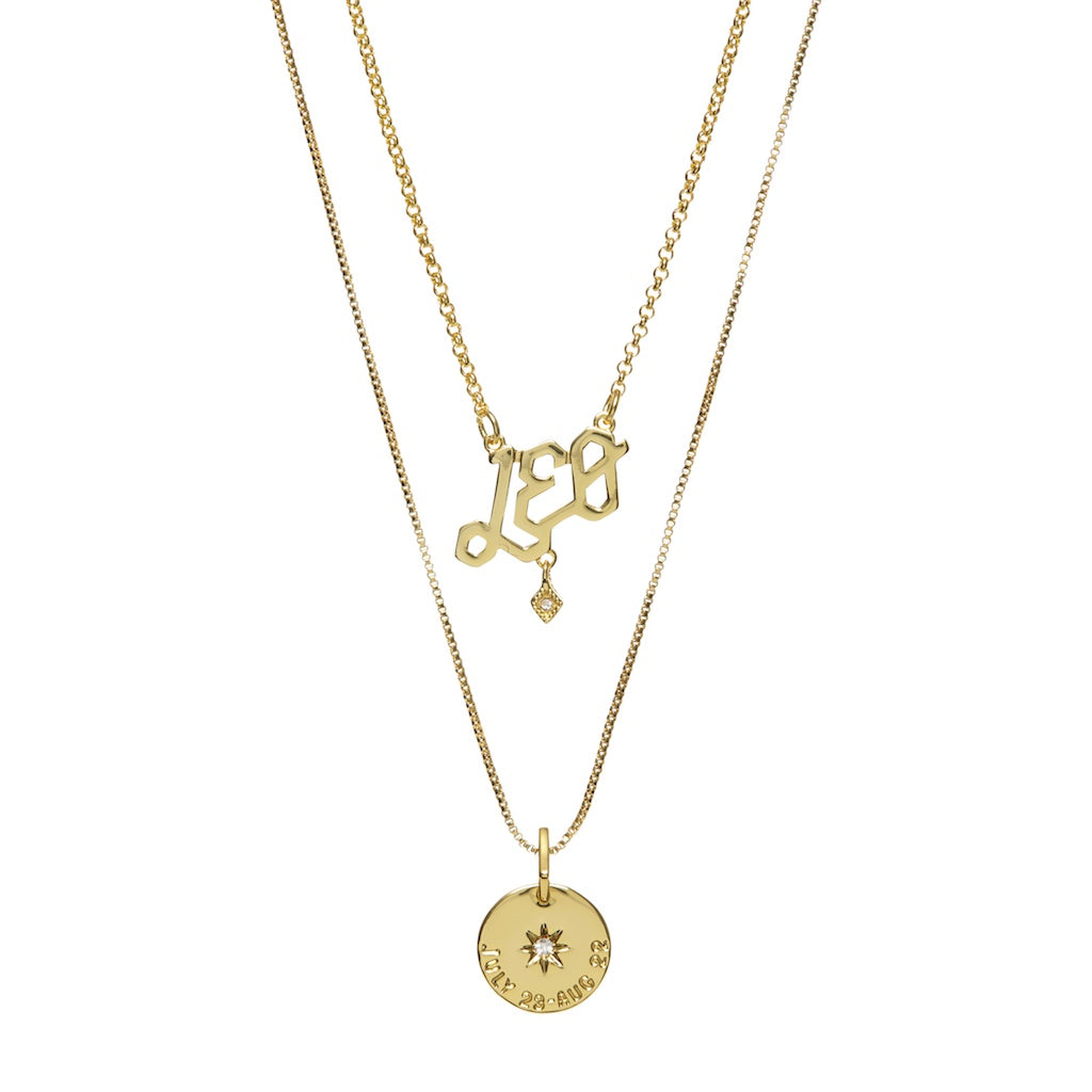 Luv Aj Leo Zodiac Necklace Set Japr