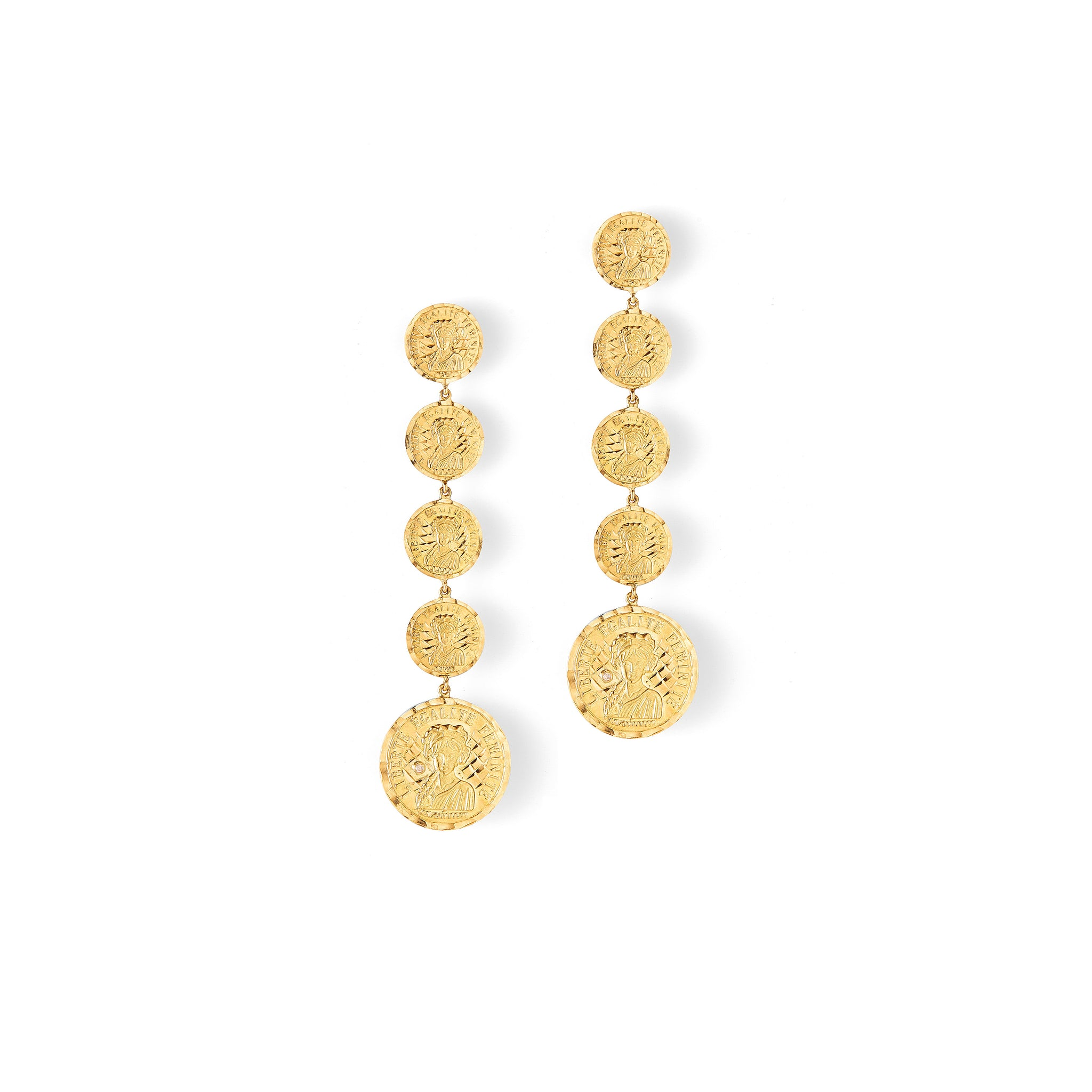 ANISSA KERMICHE - LOUISE D'OR INFINIE EARRINGS