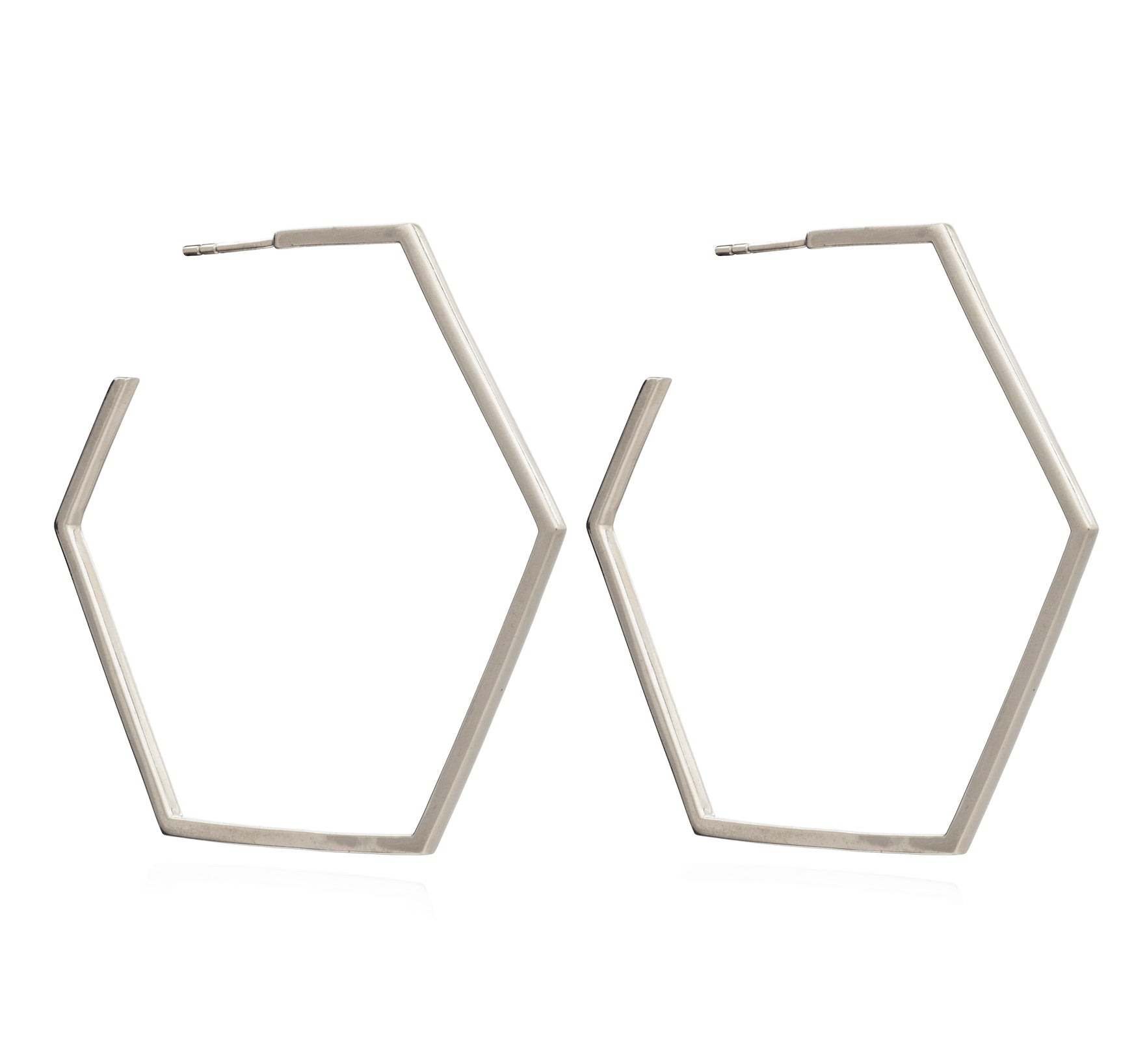 RACHEL JACKSON - OVERSIZE XL HEXAGON HOOPS