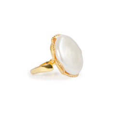 APPLES & FIGS - PEARL ALLEGORY RING