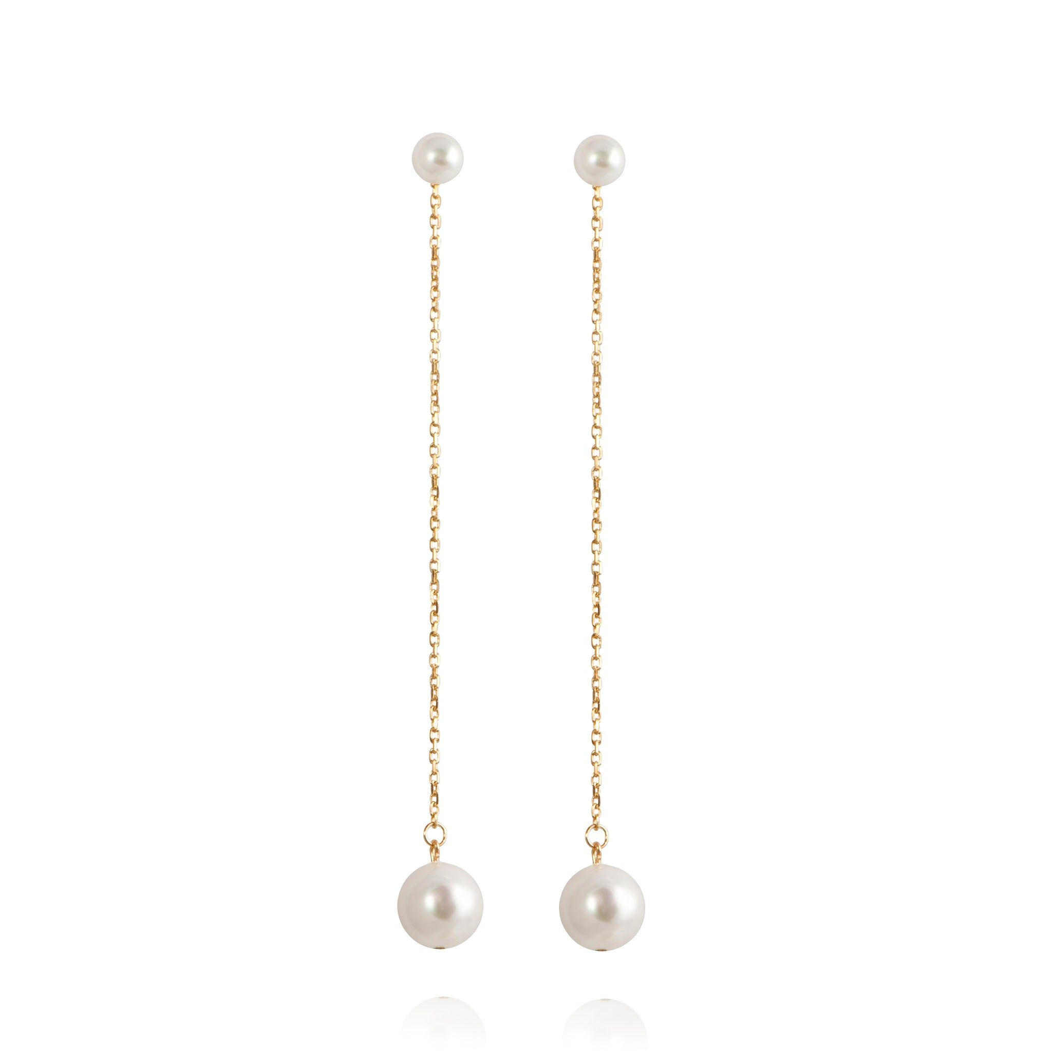 APPLES & FIGS - PEARL MUSE CHAIN EARRINGS