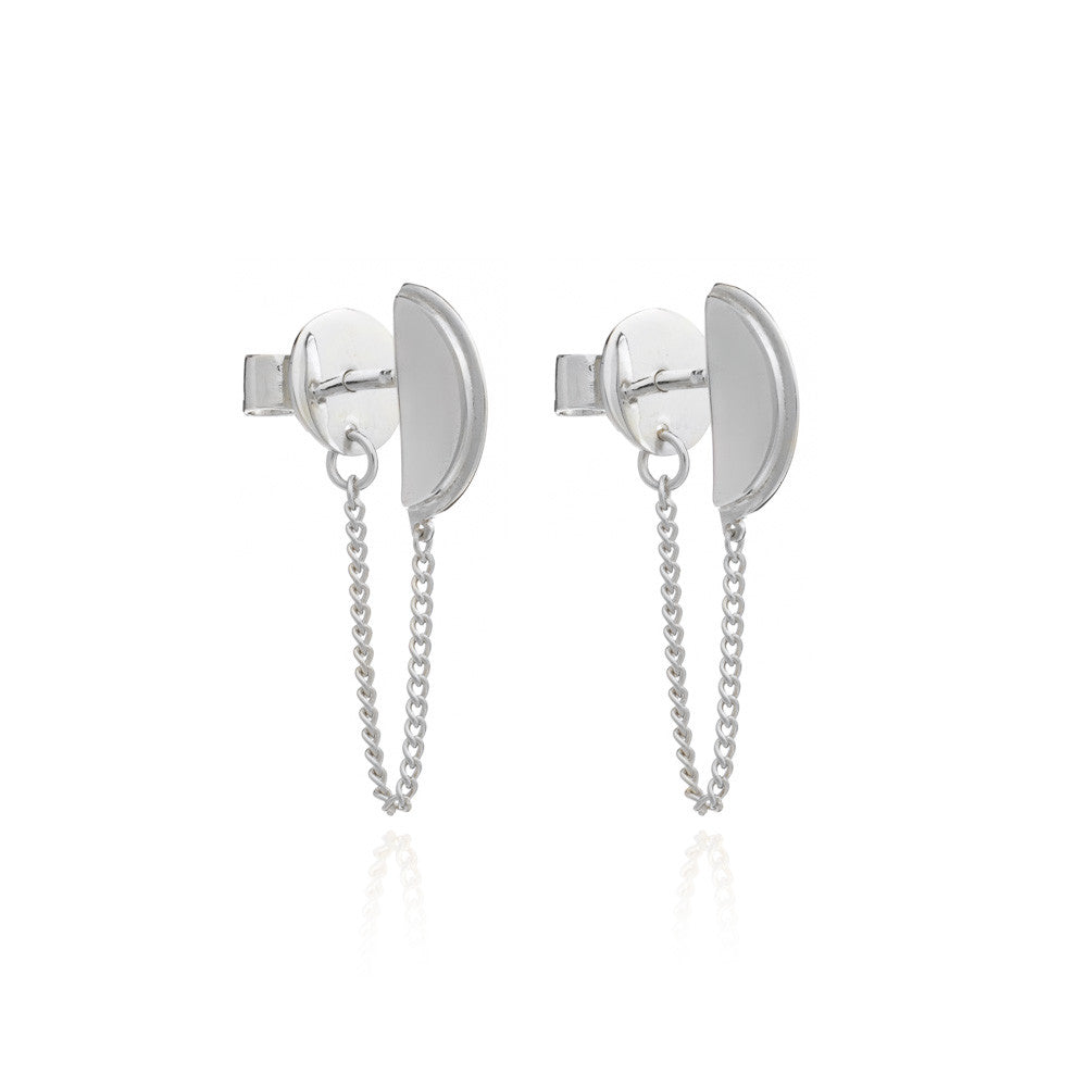 RACHEL JACKSON - SILVER WOO MOON EARRINGS