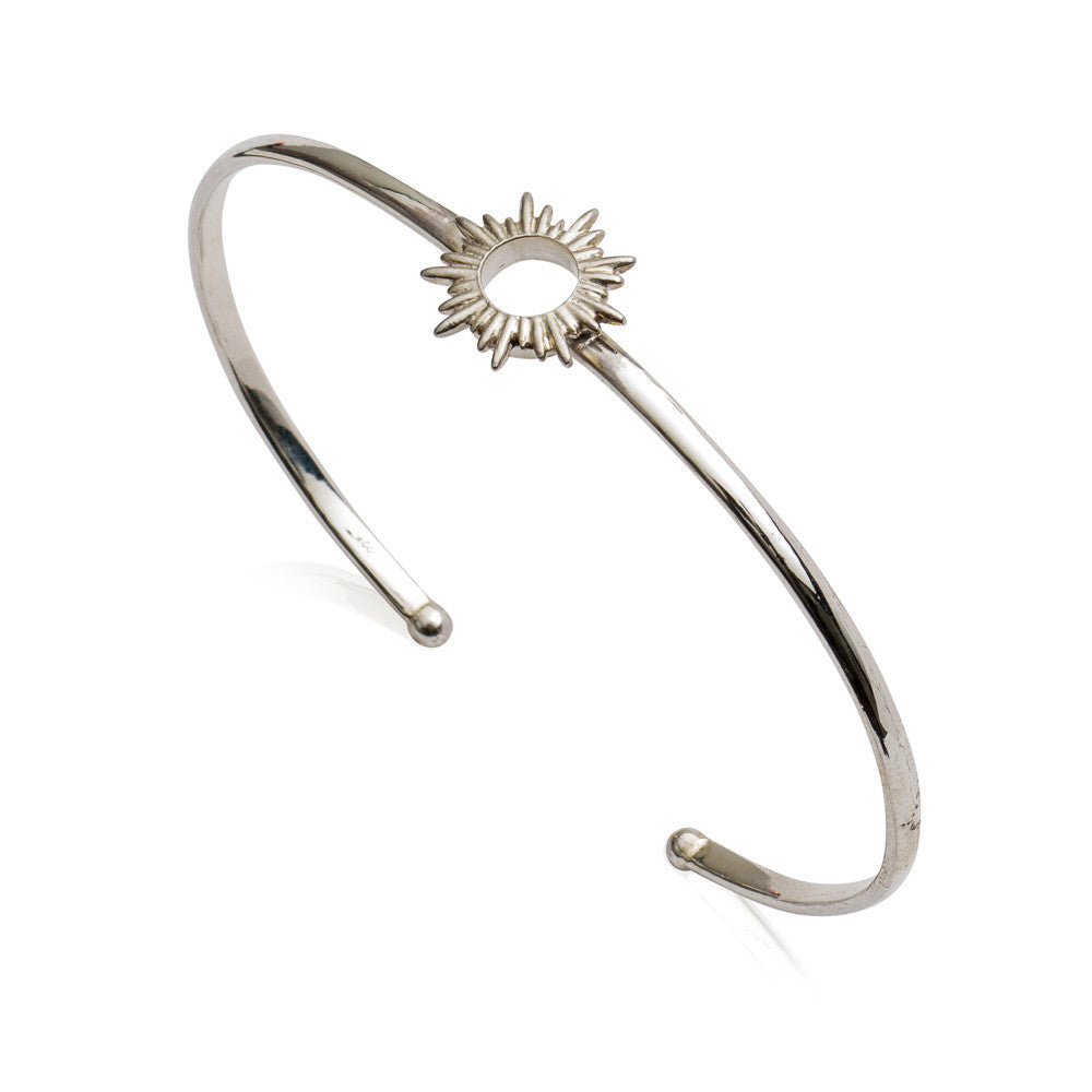 RACHEL JACKSON - SILVER ELECTRIC GODDESS BANGLE