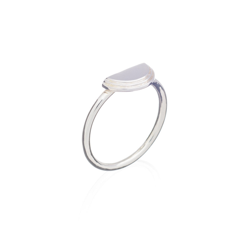 RACHEL JACKSON - SMALL SILVER WOO MOON RING