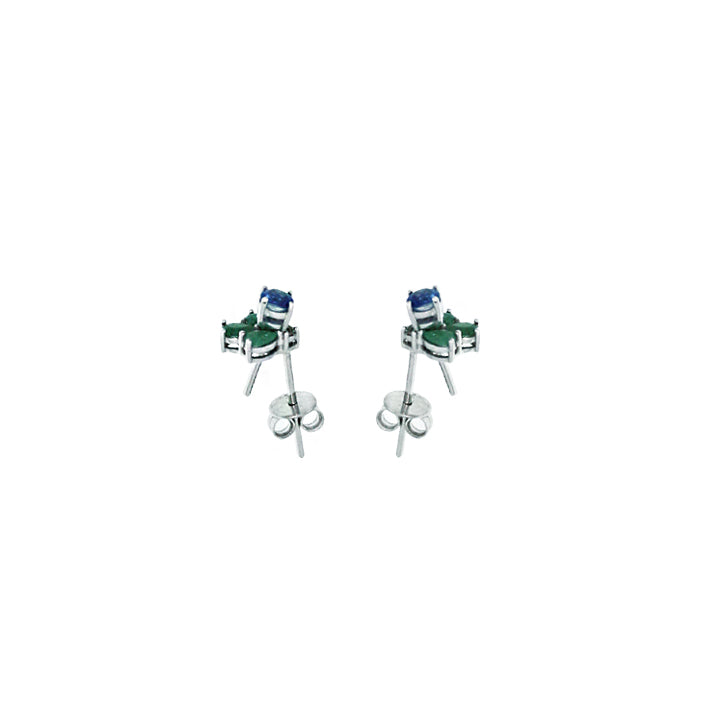 EK THONGPRASERT - EMERALD AND KYANITE EARRINGS