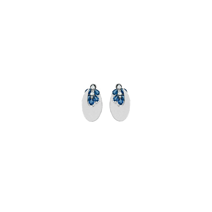 EK THONGPRASERT - SKY BLUE TOPAZ AND KYANITE EARRINGS