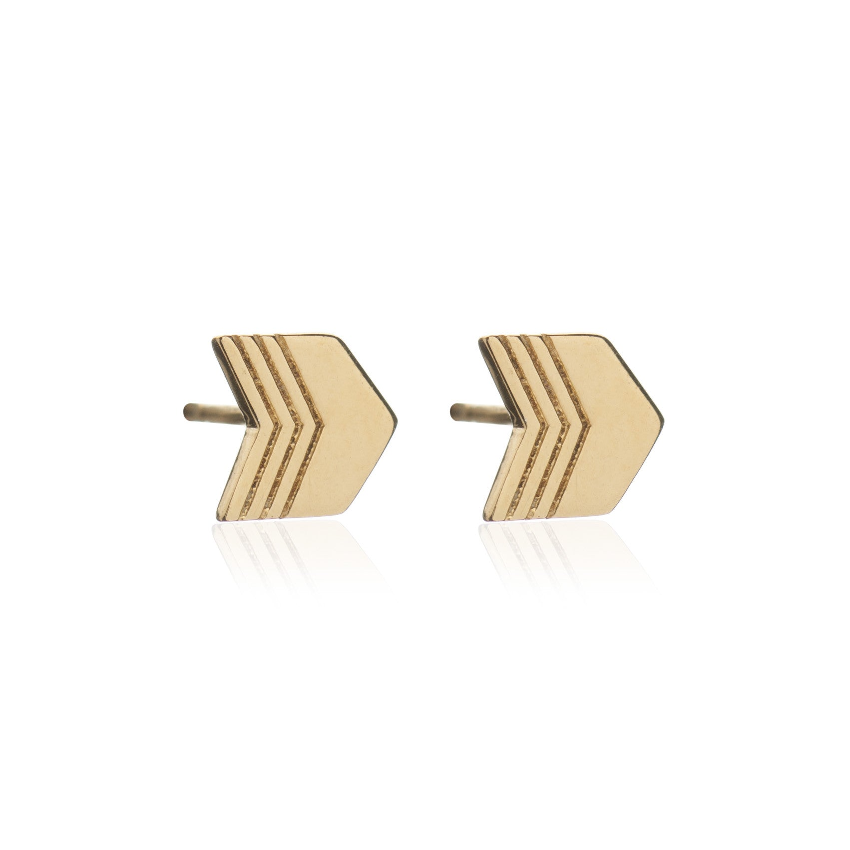 Rachel Jackson - Gold Arrow Studs