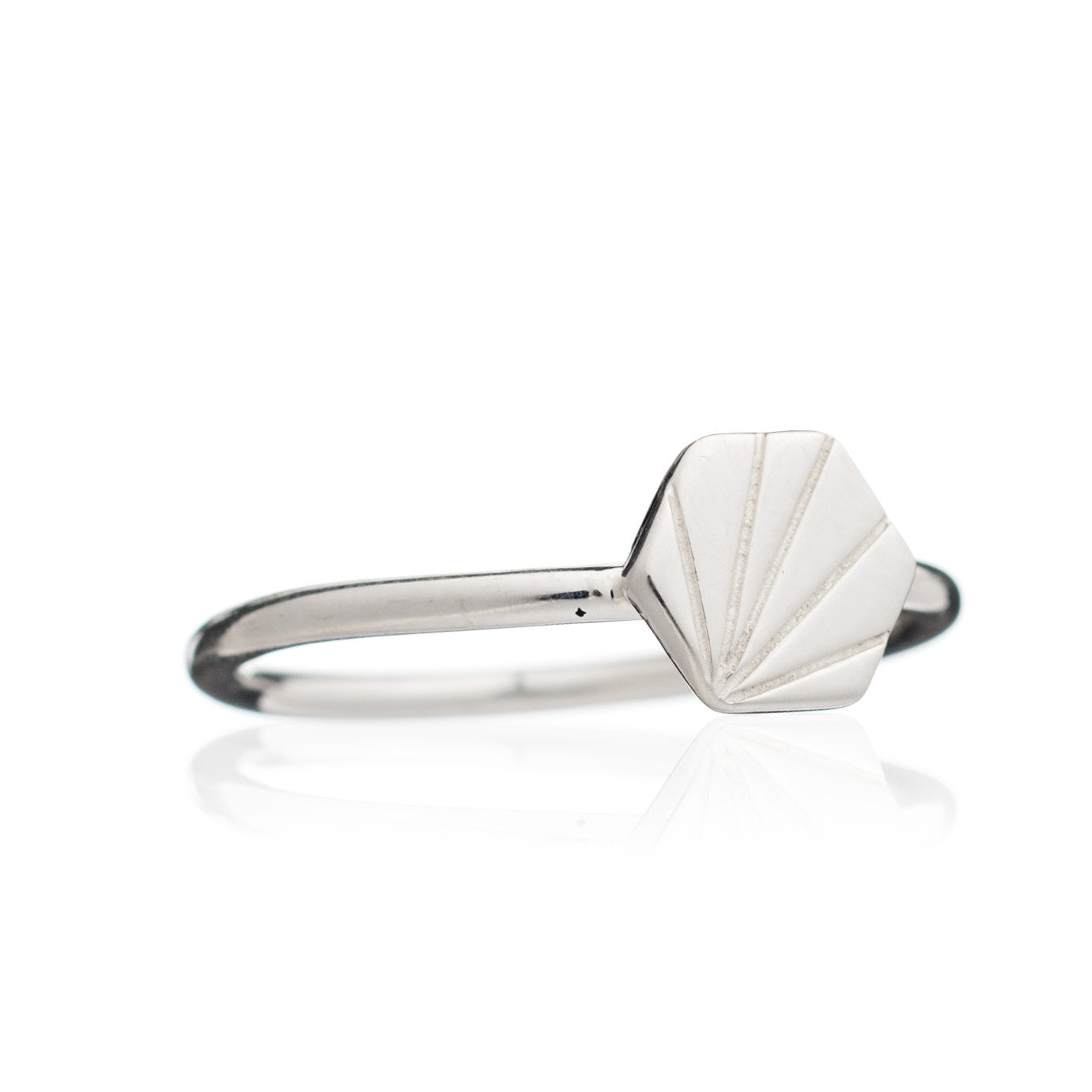 Rachel Jackson - Silver Hexagon Ring