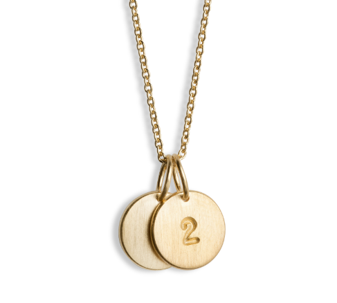 Jane Koenig - Gold Lovetag Number Necklace