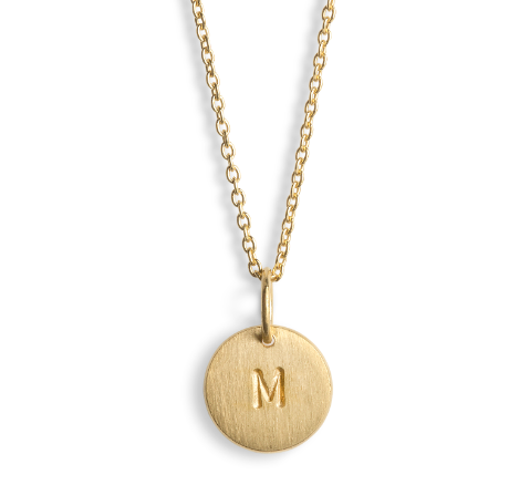 Jane Koenig - Gold Letter Lovetag Necklace