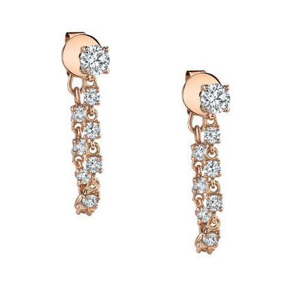 ANITA KO - ROSE GOLD DIAMOND LOOPED EARRINGS