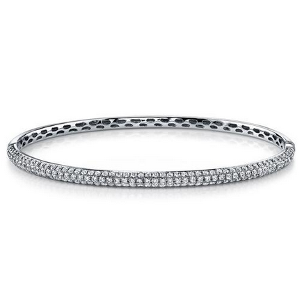 ANITA KO - THREE ROW DIAMOND BANGLE