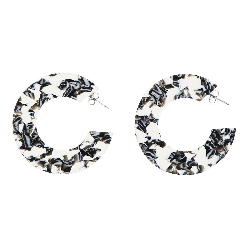 AYM - BERLIN BLACK AND WHITE ANANDA EARRINGS