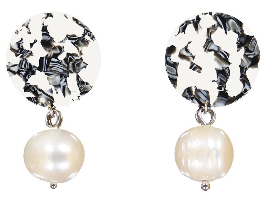 AYM - BERLIN BLACK AND WHITE ANDREIA EARRINGS