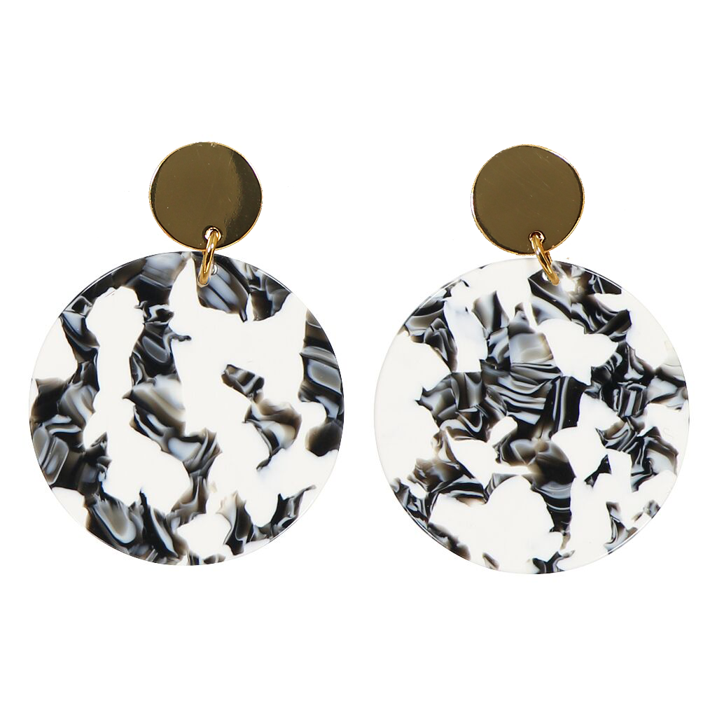 AYM - BERLIN BLACK AND WHITE ANIELA EARRINGS