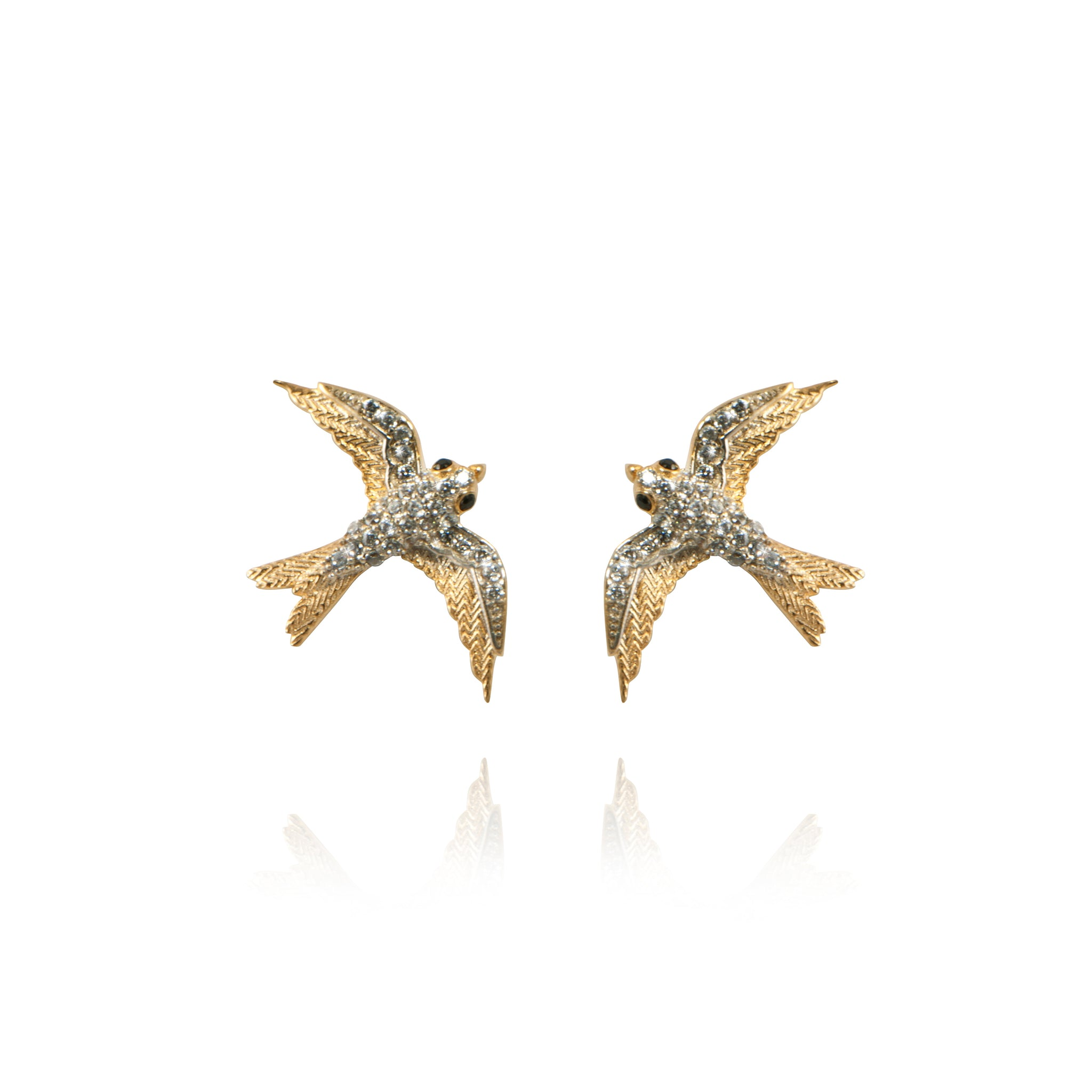 APPLES & FIGS - SMALL BIRD ALLEGORY STUDS