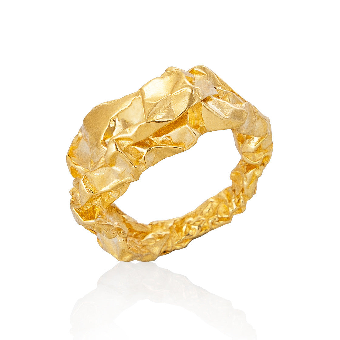 Niza Huang - Gold Crush Plain Ring