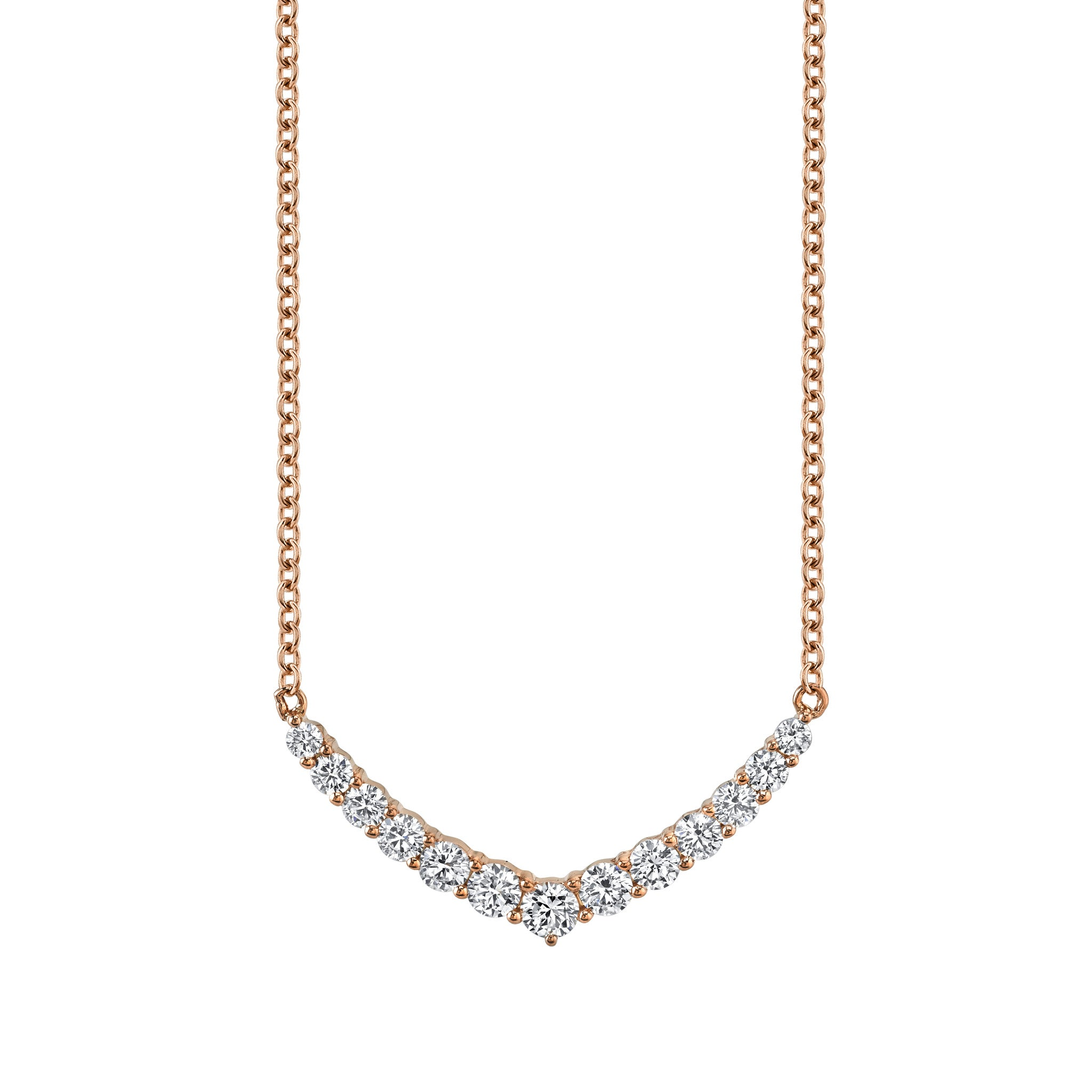 ANITA KO - CURVED V NECKLACE