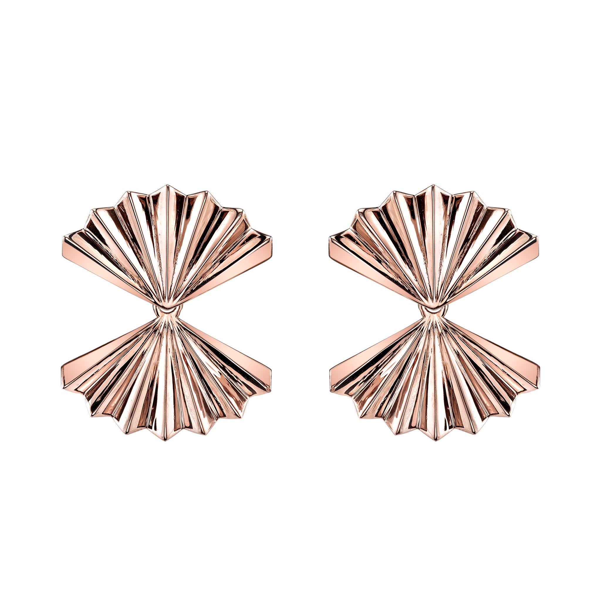 ANITA KO - ROSE GOLD FAN EARRINGS