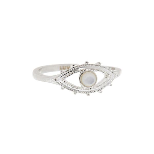 LUV AJ - EVIL EYE SIGNET RING
