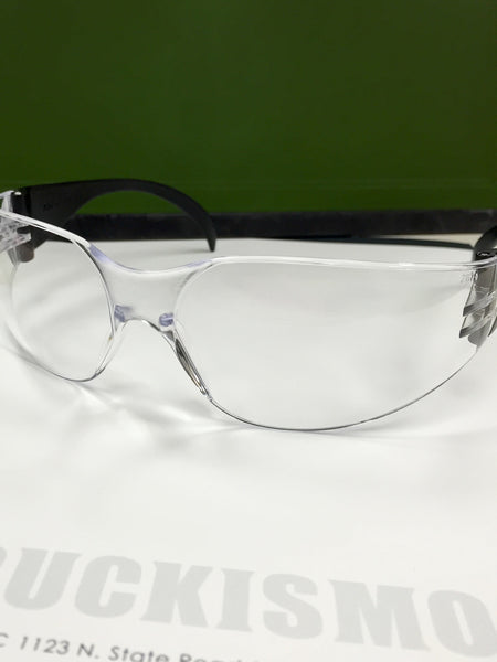 Safety Glasses - Black Frame W/ Clear Lens