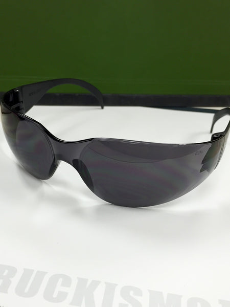Safety Glasses - Black Frame W/ Black Lens