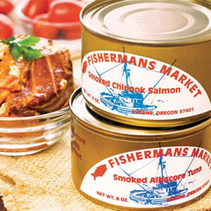Fishermans Kitchen Canned Albacore Tuna and Chinook Salmon