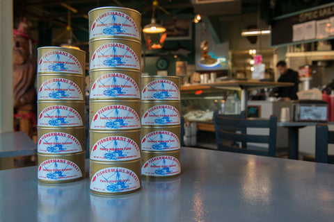 Wild-caught, canned salmon and tuna available for sale online from Fisherman's Market.